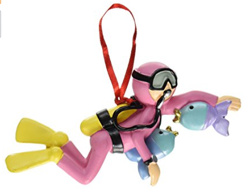 Scuba Diver Ornament (Female and Male available)