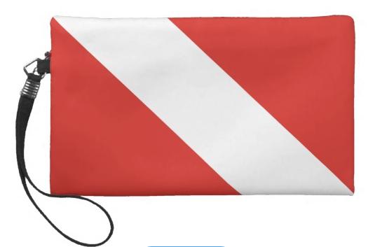 dive flag wristlet or clutch