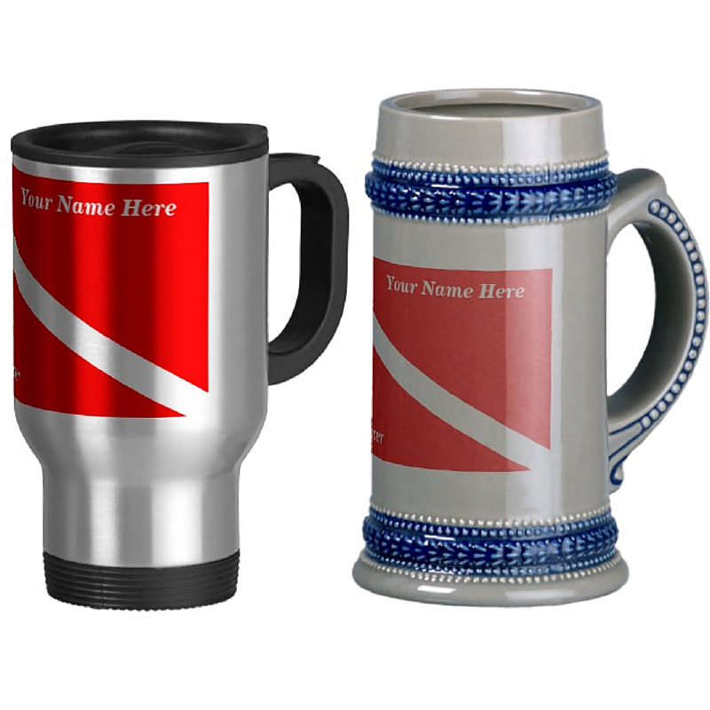 Dive travel mug or diver beer stein
