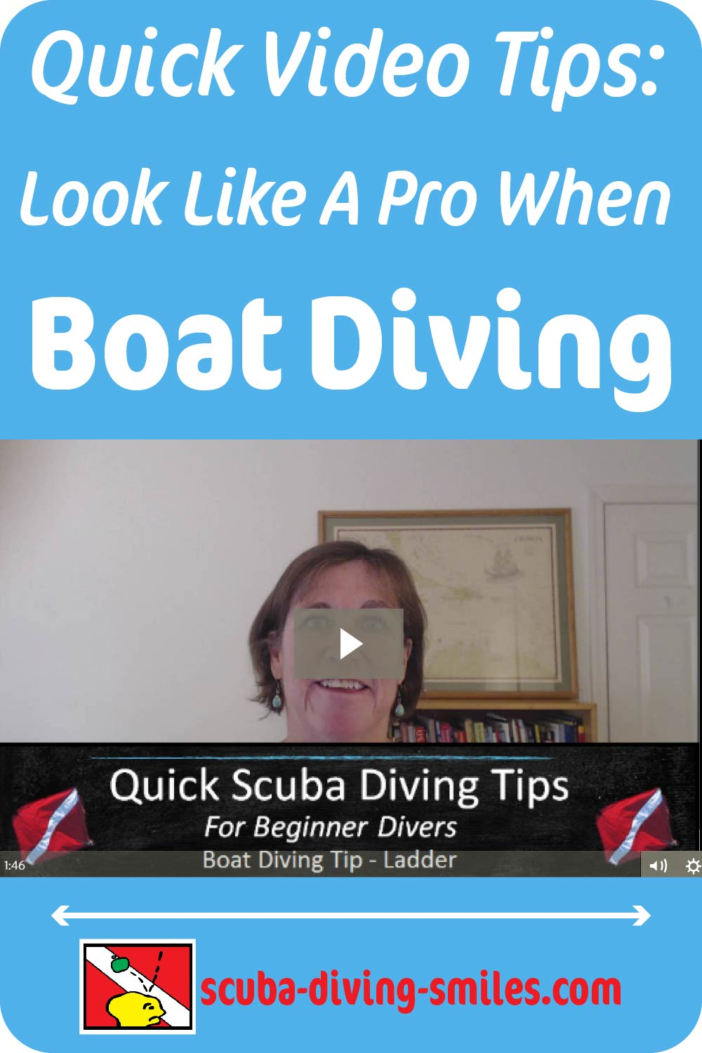Quick video of boat diving tips for new scuba divers.
