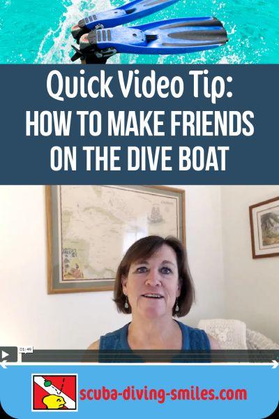 Boat scuba diving video tip