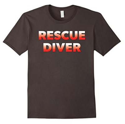 scuba diving rescue diver tshirt