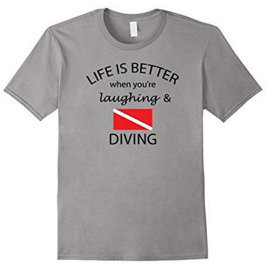 Funny scuba diving tshirt