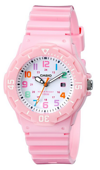 Casio pink women's dive watch