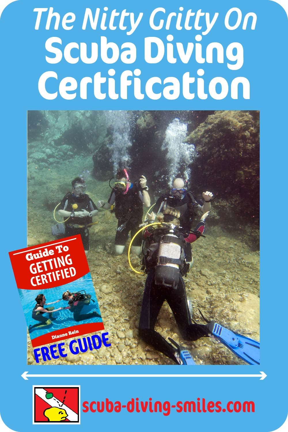 Scuba diving certification information