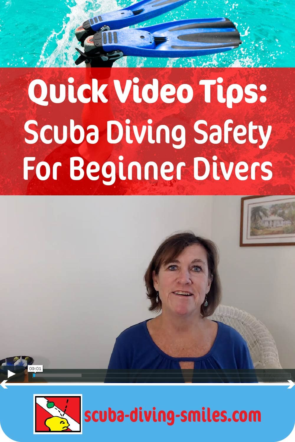 Quick video of scuba diving safety tips for new scuba divers.
