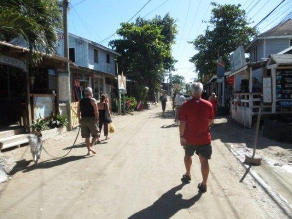 Main street in Roatan Honduras