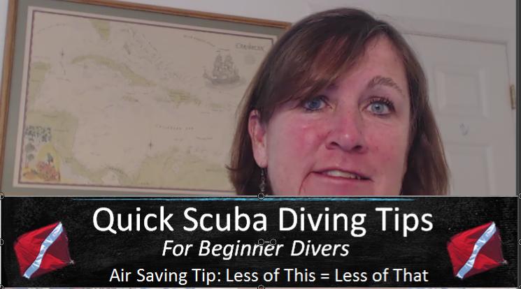 scuba diving video tip on air consumption