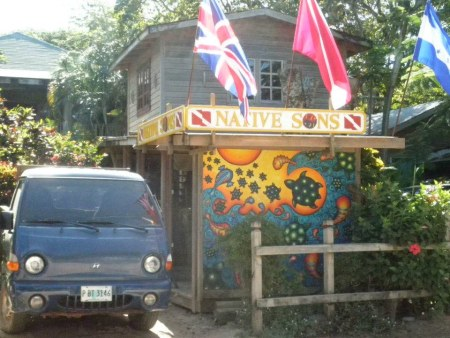 Native Son Scuba diving shop in West End, roatan