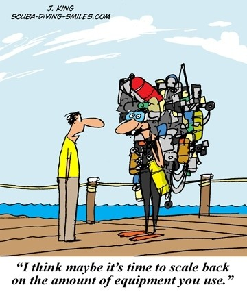 Scuba Diving Cartoon #6 - The diver with it all..