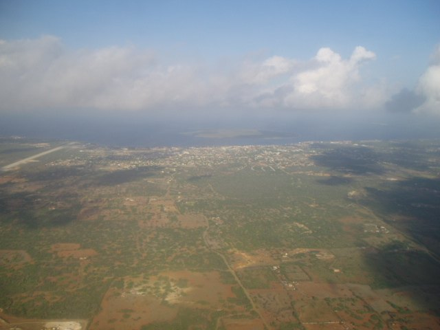 Aerial view of Bonaire and Klein Bonaire