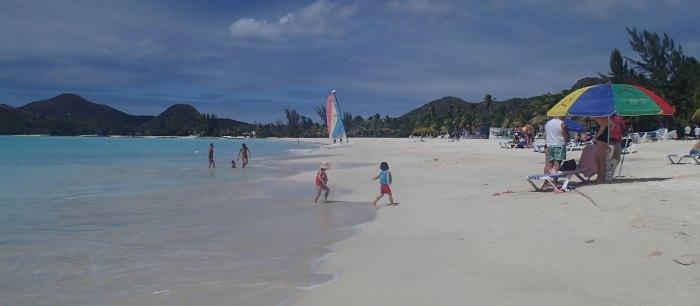 Beach at Jolly Harbour Beach Resort