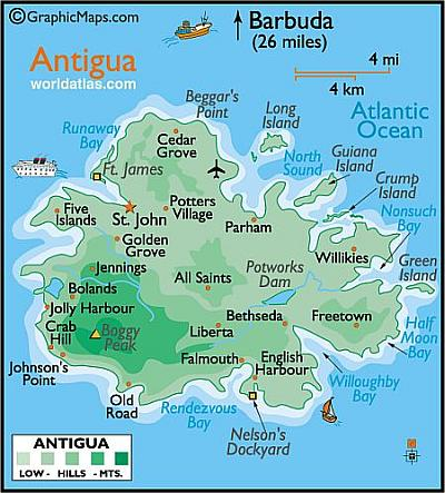 Map Of Antigua Antigua Map   Plan Your Caribbean Island Vacation! ISatellite Map