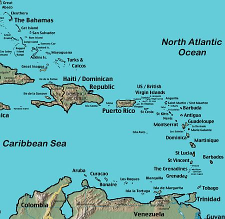 Antigua Island Map Antigua Map   Plan Your Caribbean Island Vacation! ISatellite Map