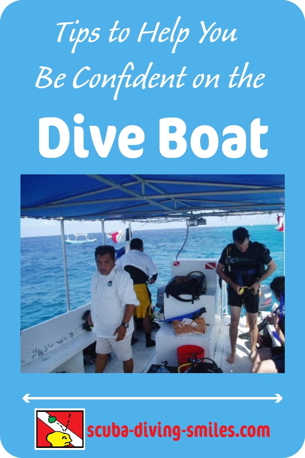 Boat scuba diving tips inforgraphic