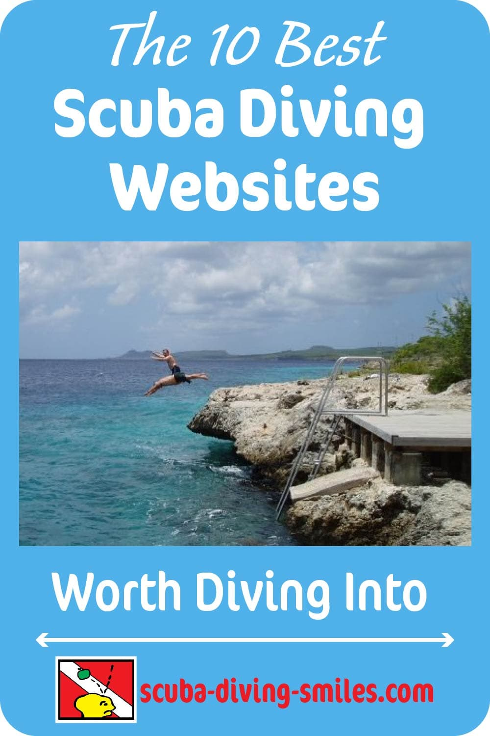 best scuba diving websites graphic