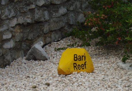 Bonaire dive site marker