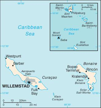 bonaire map