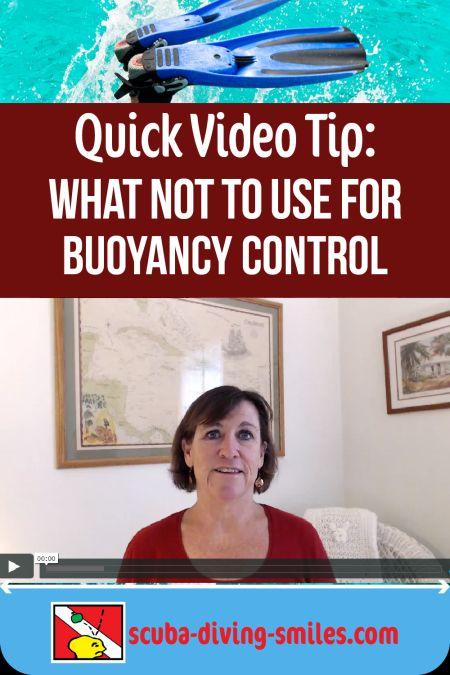 scuba diving video tip on buoyancy control
