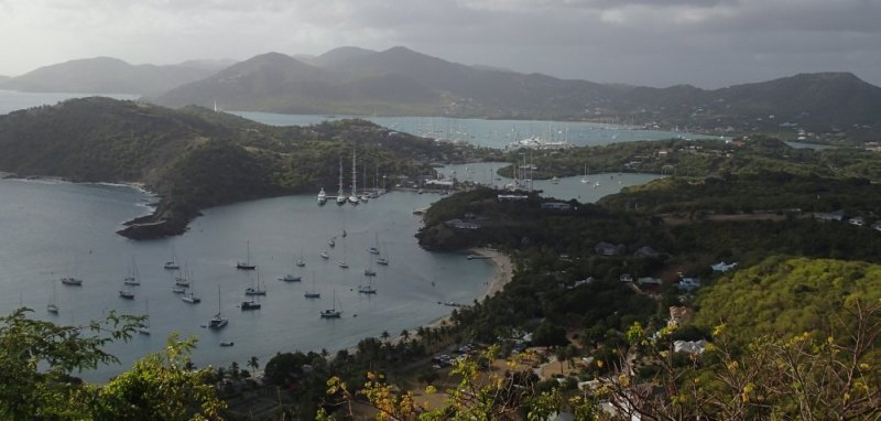 View from Shirley Heights in Antigua