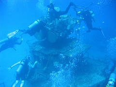 cayman brac diving - wreck of the keith tibbetts