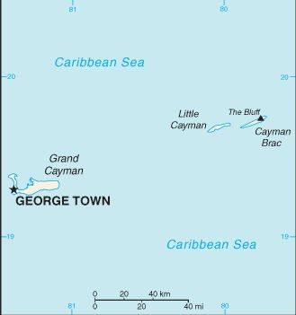 cayman brac map - caribbean