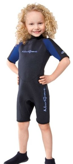 Pick for best value childrens wetsuit - a Neosport model
