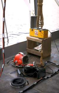 Commercial dive equipment for a dive job