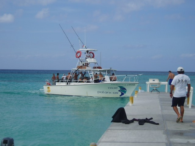 Scuba diving at an all inclusive resort in Cozumel, Mexico