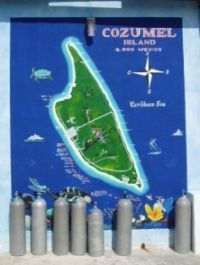 Cozumel scuba diving map