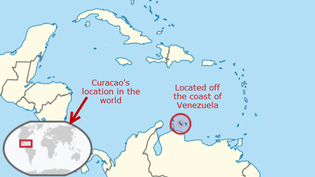 Where Is Curacao Located On The Map Curacao Maps   Find That Island In The Caribbean