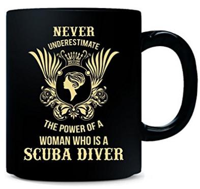 scuba diving coffee mug for women