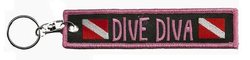 dive diva key chain women's