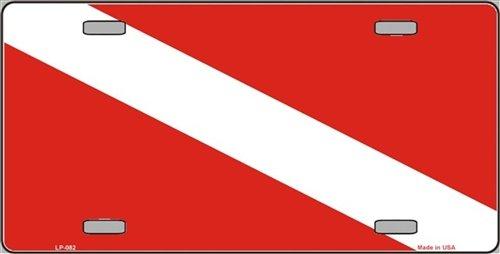 scuba flag license plate