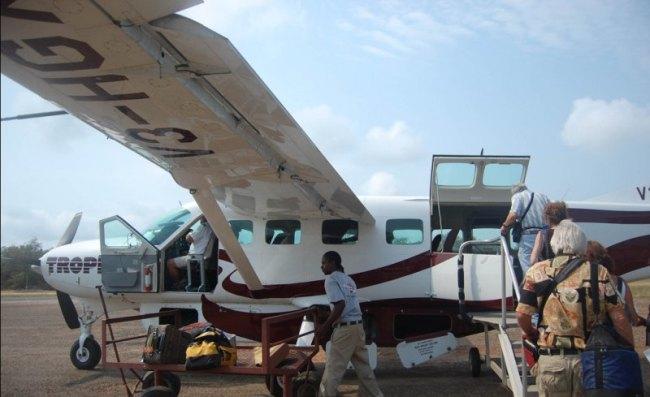 Flight from Plancencia Belize to Belize City