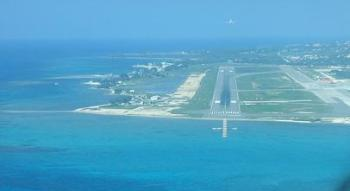 Flights landing at Sangster Airport in Montego Bay Jamaica