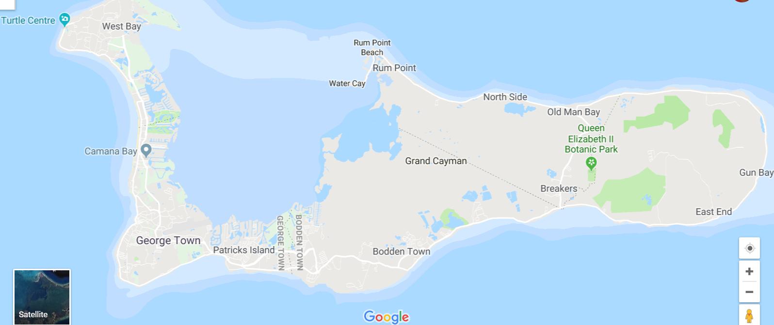 on camana bay map
