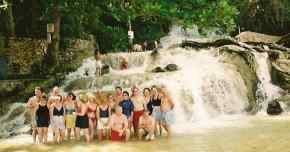 scuba dive vacations in jamaica - dunns river falls