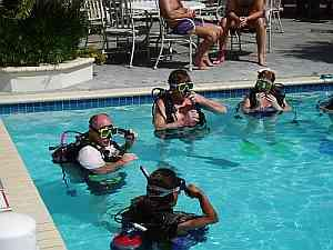 Scuba diving classes at Breezes Resort in Curacao