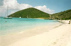 White Bay from Ivan's Campground beach, Jost Van Dyke, BVI