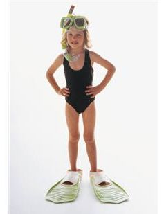 Kids snorkeling gear - somehow I don't think they are hers.