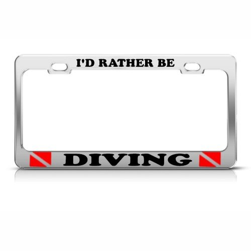 scuba diving license frame