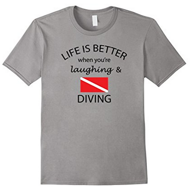 Funny scuba diving tshirt