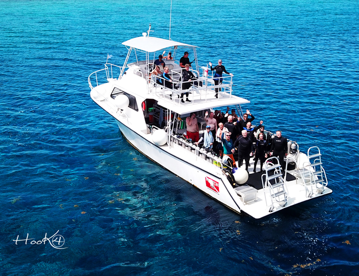 Little Cayman scuba diving boat