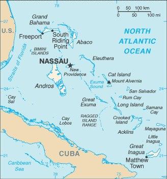 map of bahamas
