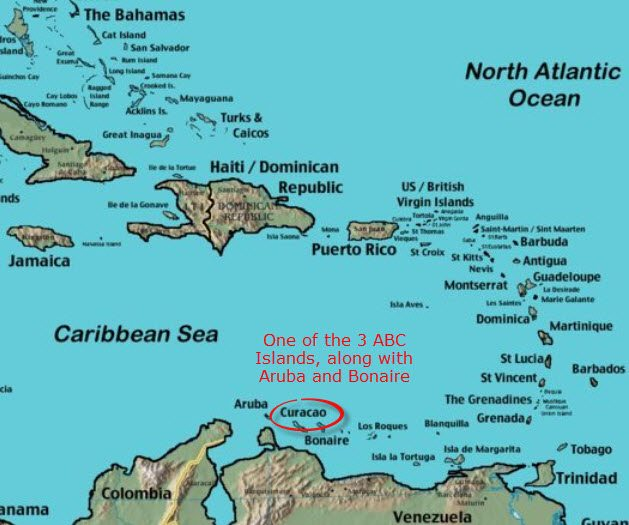 Curacao Maps   Find That Island In The Caribbean