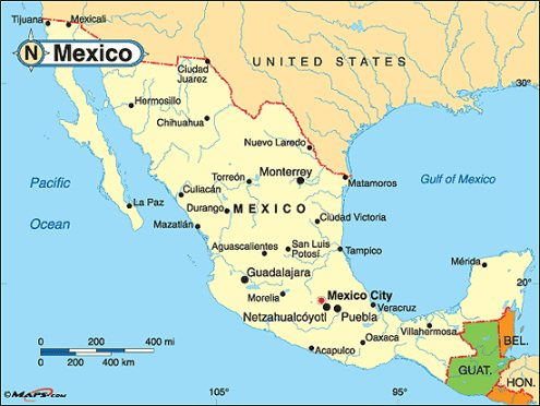 Maps of Mexico Start Planning That Vacation