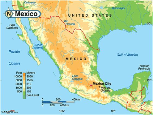 maps of mexico mexico map