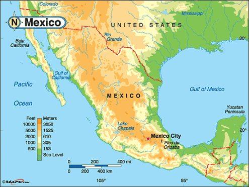 Map Of Mexico Cities Puerto Vallarta