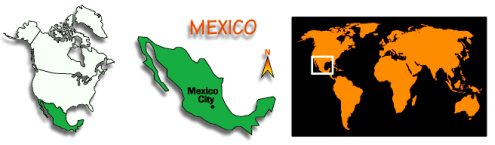 maps of mexico - mexico map